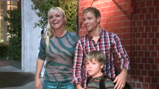 Brian Littrell Leighanne Wallace Baylee Littrell at Mr Chow in Beverly Hills 04/26/13