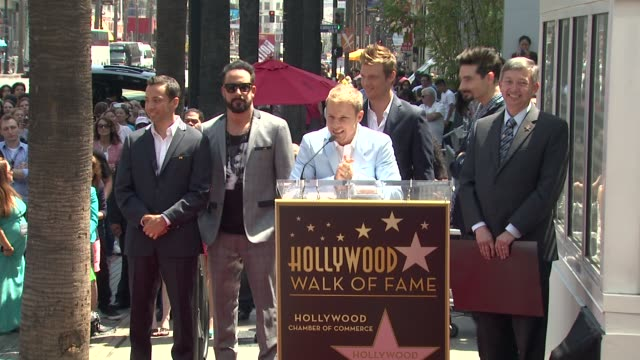 speech brian littrell on being honored with a star at backstreet boys celebrate 20 year career with star on the hollywood walk of fame speech brian... - backstreet boys stock videos & royalty-free footage