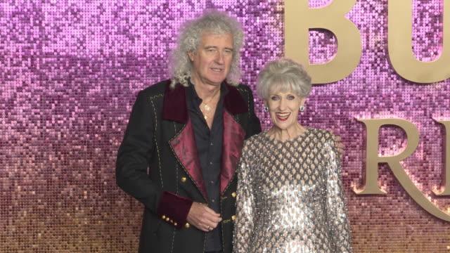brian may and anita dobson at bohemian rhapsody world premiere at wembley arena on october 23 2018 in london england - anita dobson stock videos & royalty-free footage