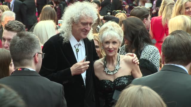 Brian May and Anita Dobson at The Royal Opera House on March 03 2016 in London England