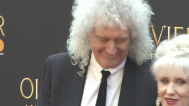 brian may anita dobson at the olivier awards with mastercard at royal albert hall on april 08 2018 in london england - anita dobson stock videos & royalty-free footage