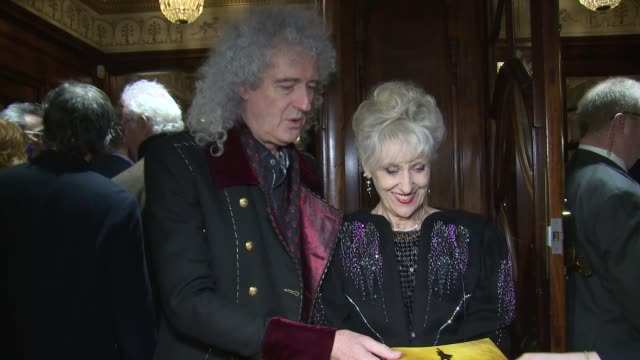 brian may anita dobson at victoria palace theatre on december 21 2017 in london england - anita dobson stock videos & royalty-free footage