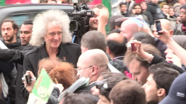 Brian May at We Will Rock You 10 Year Anniversary Celebration at Dominion Theatre on May 14 2012 in London England