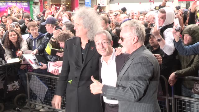 Brian May Ben Elton Roger Taylor at We Will Rock You 10 Year Anniversary Celebration at Dominion Theatre on May 14 2012 in London England