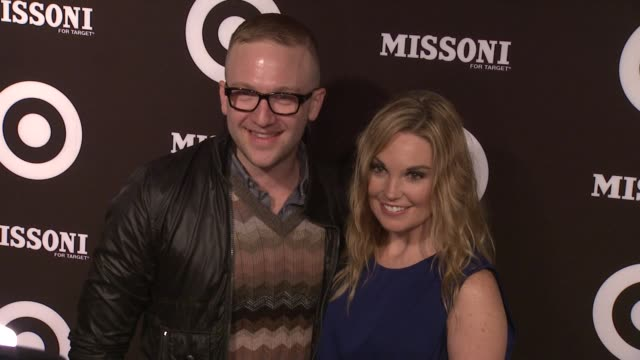 brian robinson, director of design partnerships for target and dustee tucker jenkins- vp communications for target at the missoni for target private... - tucker stock videos & royalty-free footage