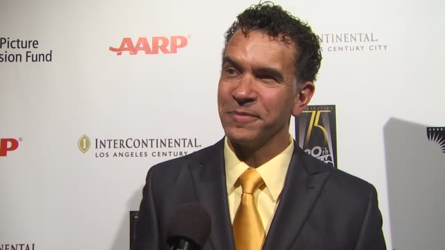 interview brian stokes mitchell on being involved in tonight's benefit on what makes tonight so special on the first broadway show he saw and how it... - broadway show stock videos and b-roll footage