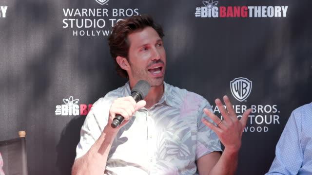 brian thomas smith at warner bros. studio tour hollywood – the big bang theory in los angeles, ca 6/27/19 - warner bros. stock videos & royalty-free footage