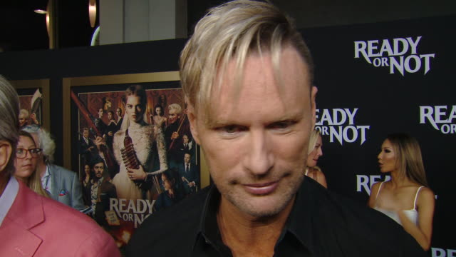 """interview brian tyler on the music of the movie at the """"ready or not"""" los angeles special screening presented by fox searchlight pictures in los... - fox searchlight pictures stock videos & royalty-free footage"""