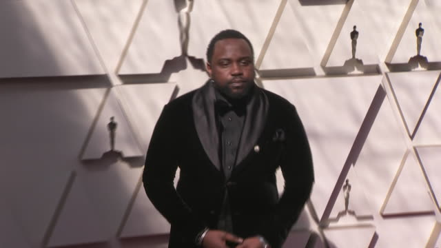 brian tyree henry walking the red carpet at the 91st annual academy awards at the dolby theater in los angeles, california. - music or celebrities or fashion or film industry or film premiere or youth culture or novelty item or vacations 個影片檔及 b 捲影像