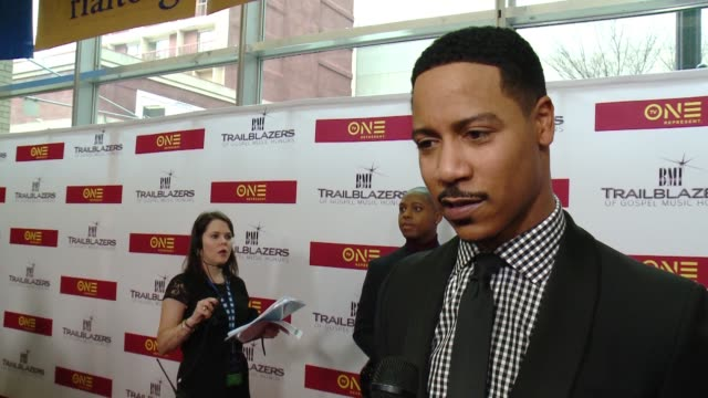 INTERVIEW – Brian White says he loves Marvin Sapp and his music on being raised on gospel at BMI Trailblazers of Gospel Music at Rialto Center for...