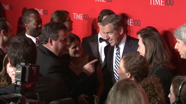 vídeos de stock, filmes e b-roll de brian williams at the time 100 gala time's 100 most influential people in the world at new york ny - evento anual