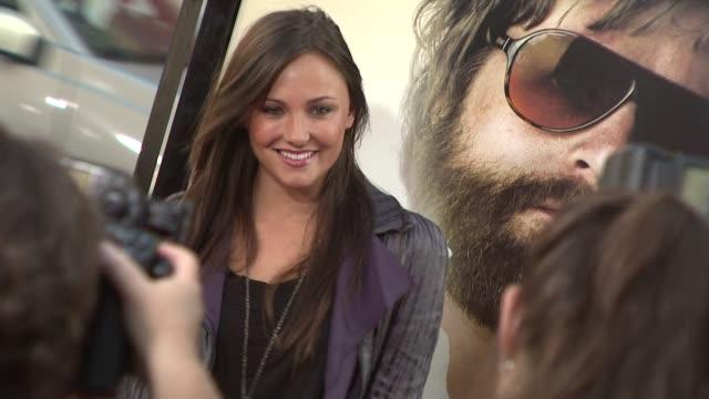 briana evigan at the 'the hangover' premiere at hollywood ca - una notte da leoni video 2009 video stock e b–roll