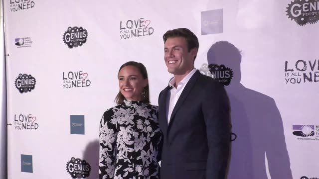briana evigan blake cooper griffin at the love is all you need premiere on november 15 2016 in hollywood california - griffin stock videos & royalty-free footage