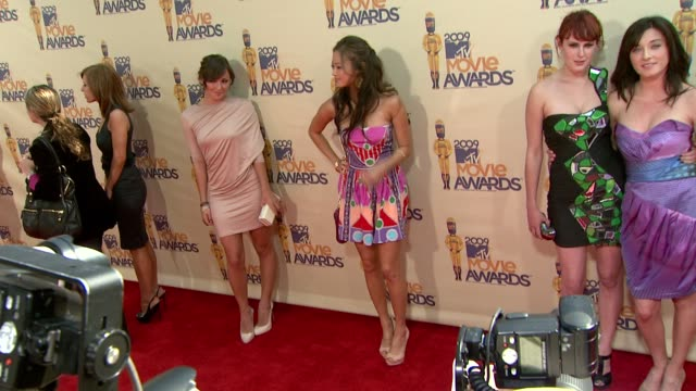 Briana Evigan Jamie Chung Rumer Willis Margo Harshman at the 18th Annual MTV Movie Awards at Universal City CA