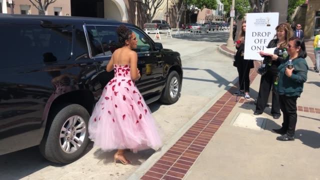 briana henry arriving to the 46th annual daytime emmy awards at pasadena civic center in pasadena in celebrity sightings in los angeles - daytime emmy preisverleihung stock-videos und b-roll-filmmaterial