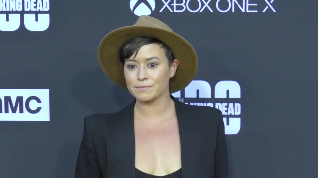 Briana Venskus at AMC's The Walking Dead 100th Episode Season 8 Special Premiere Screening at The Greek Theatre on October 22 2017 in Los Angeles...