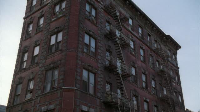 CU LA Brick Apartment Building Exterior USA