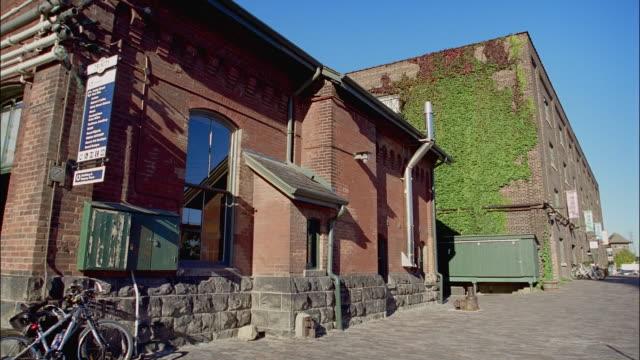 MS, PAN, Brick building in Distillery District, Toronto, Ontario, Canada