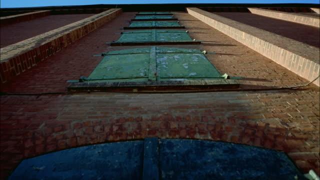 MS, LA, Brick building in Distillery District, Toronto, Ontario, Canada