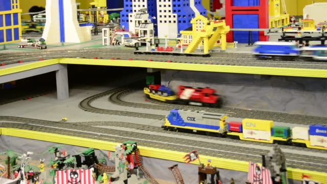 stockvideo's en b-roll-footage met brick city is a recreation facility seen on june 22, 2013; in niagara falls, ontario, canada. the famous place has diverse exhibits made with lego... - tentoonstelling