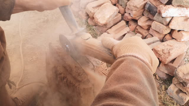 brick cutting - stone object stock videos & royalty-free footage