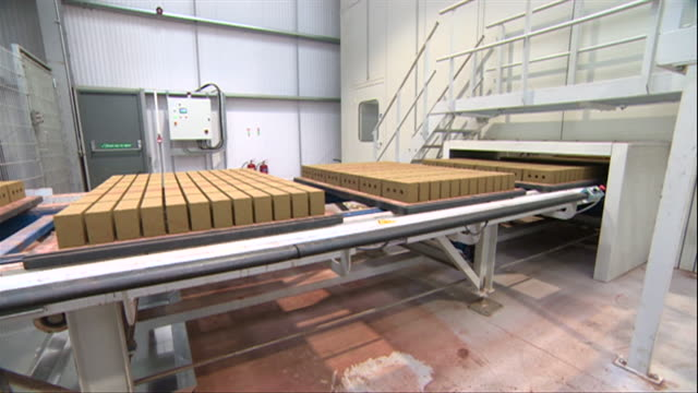 brick factory production line in haworth nottinghamshire - construction material stock videos & royalty-free footage