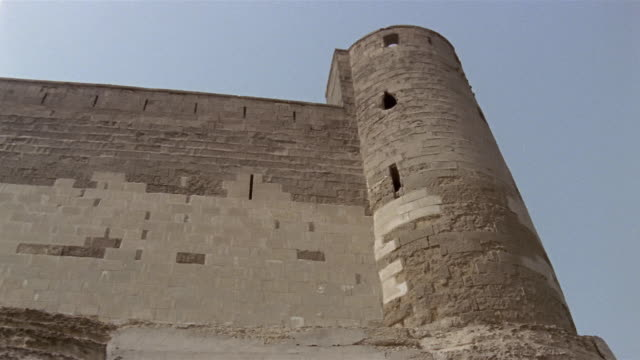 la ms td cu brick fortress with stone foundation / egypt - 1992 stock videos & royalty-free footage