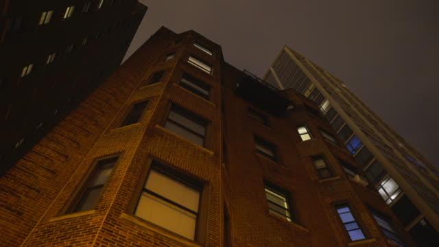 Brick Highrise Night Exterior