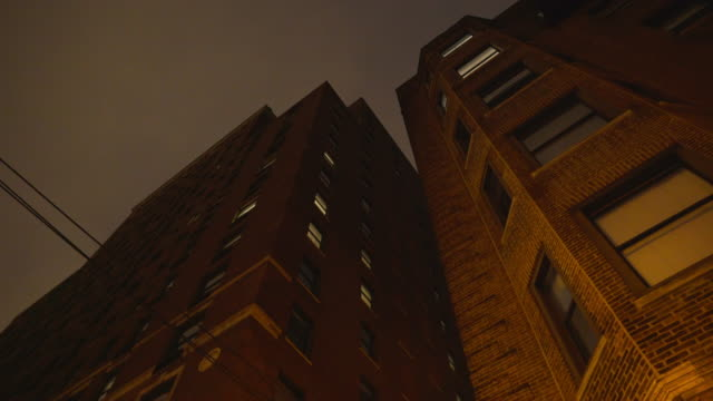 Brick Highrise Night Exterior