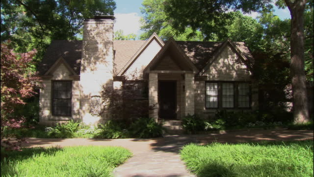 ms, brick suburban house, dallas, texas, usa - brick house stock videos and b-roll footage