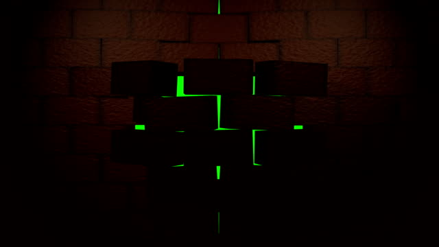 brick wall - emergence stock videos & royalty-free footage