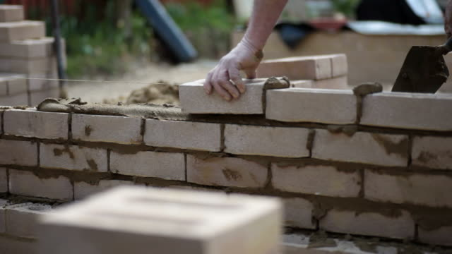 brick wall... - brick stock videos & royalty-free footage