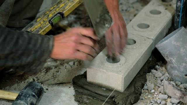 brick wall. - building contractor stock videos & royalty-free footage