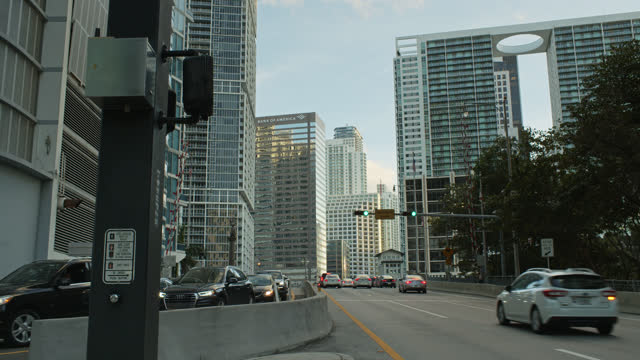 brickell avenue bridge, miami - miami dade county stock videos & royalty-free footage