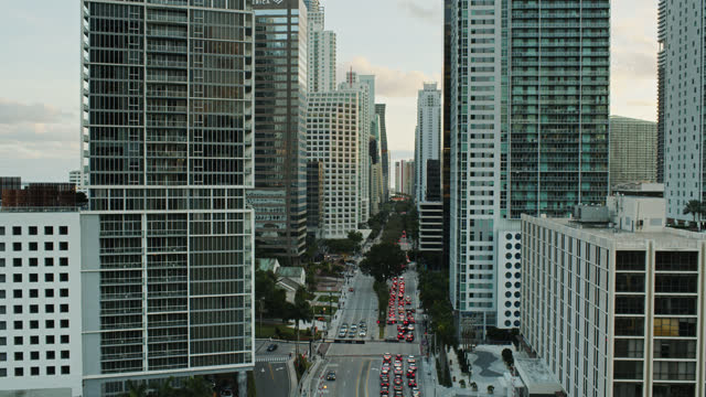 brickell avenue stretching through brickell, miami - miami dade county stock videos & royalty-free footage