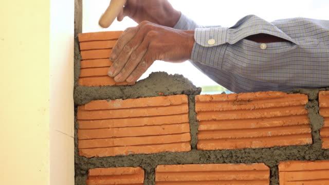 bricklayer construction brick wall, 4k