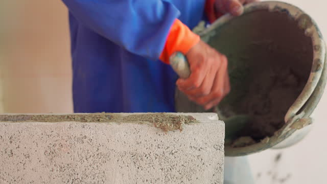bricklayer - stone material stock videos & royalty-free footage