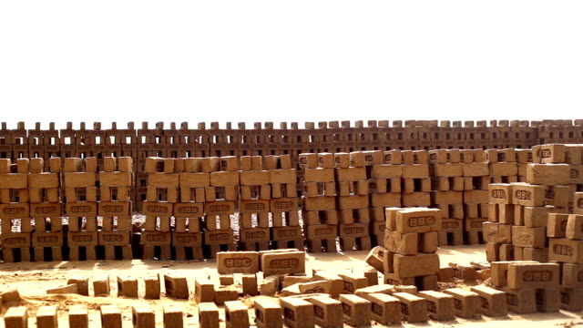 bricks in a row - mud stock videos & royalty-free footage