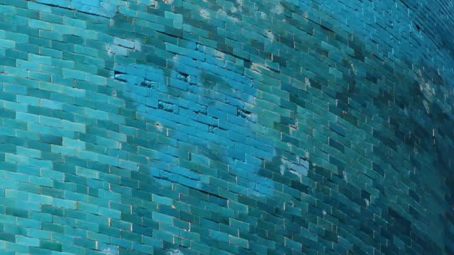 bricks of dome of tilya kori madrasah - tierfarbe stock-videos und b-roll-filmmaterial
