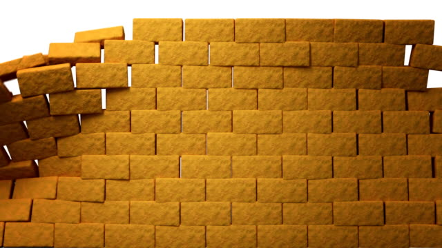 bricks - wall building feature stock videos & royalty-free footage