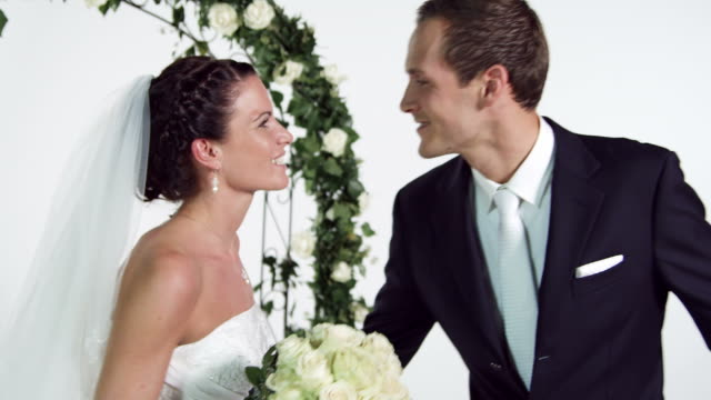 bridal couple dancing - bunch of flowers stock videos & royalty-free footage