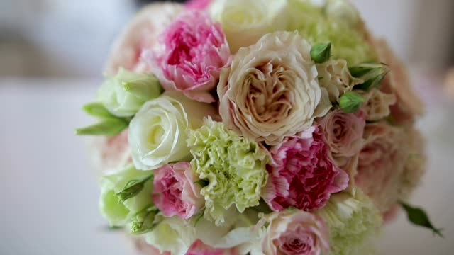 bridal blume - blumenbouqet stock-videos und b-roll-filmmaterial