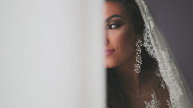 bridal shooting - earring stock videos & royalty-free footage