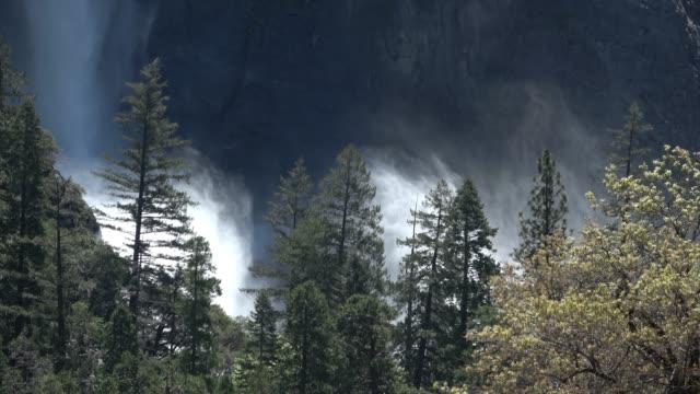 bridal veil falls in yosemite national park - bridal veil falls yosemite stock videos & royalty-free footage
