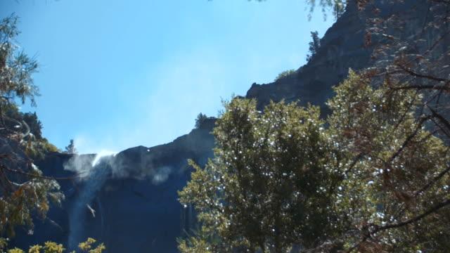bridal veil falls waterfall, yosemite national park, california - bridal veil falls yosemite stock videos & royalty-free footage