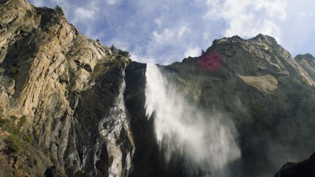 bridal veil falls, yosemite national park, california usa - bridal veil falls yosemite stock videos & royalty-free footage