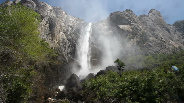 """bridalveil fall, yosemite"" - yosemite national park stock videos & royalty-free footage"
