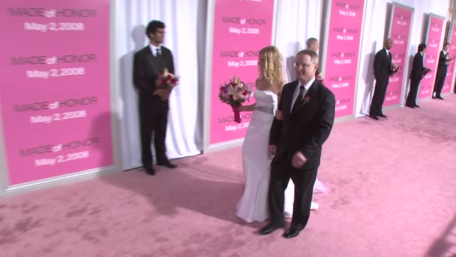 bride and father of the bride at the made of honor premiere at the ziegfeld theatre in new york new york on april 28 2008 - father of the bride stock videos and b-roll footage