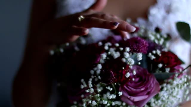 Braut und Blumen