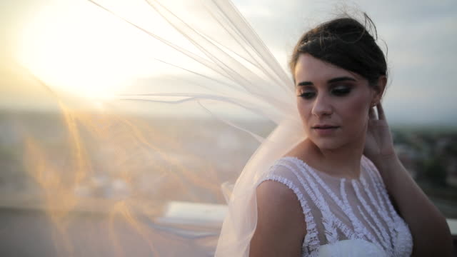 bride and groom enjoying in their love the day before wedding - bride stock videos & royalty-free footage